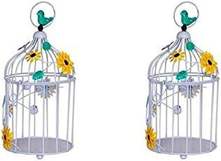 Trust basket Metal Birdcages - Set of 2 (White)