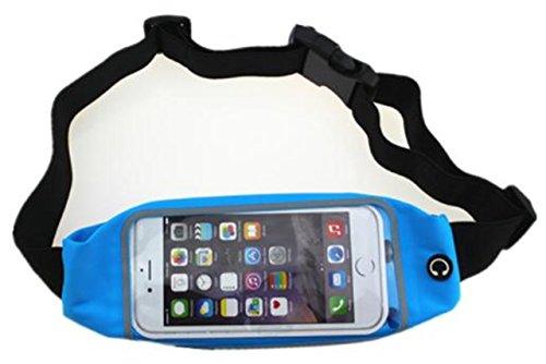 SOURIRE SUMMIT Running Gürtel Taille Pack für Handy und Schlüssel, Blau (Lifeproof Case Samsung Galaxy S5)