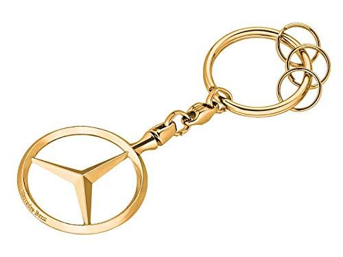 Mercedes-Benz Schlüsselanhänger Brüssel silber, Metall, vernickelt
