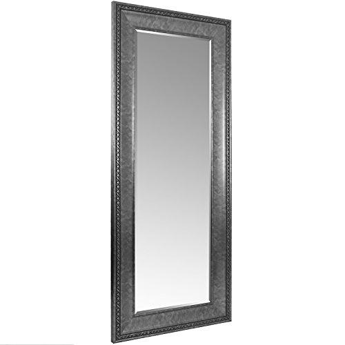 Wohaga® XXL Spiegel mit Facettenschliff und Verzierungen 170x70cm Antik-Optik Silber Flurspiegel Ankleidespiegel Hängespiegel Wandspiegel