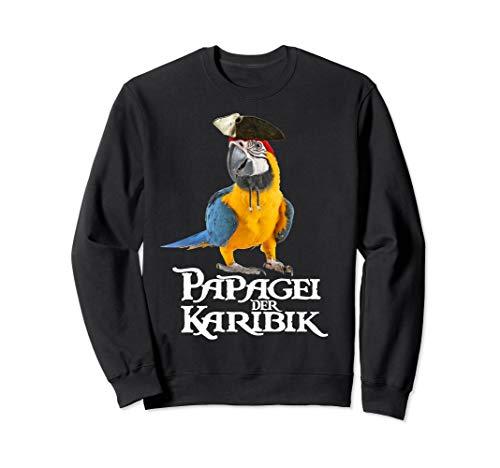 Kostüm Einzigartiges Piraten - Papagei der Karibik Vogel Piraten Halloween Kostüm Geschenk Sweatshirt
