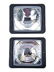 2x Scheinwerfer Fernlicht Abblendlicht H4 172x142 Traktor Zetor Atlas Fendt IHC