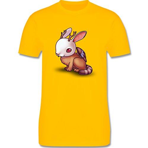 Sonstige Tiere - Wolpertinger - Herren Premium T-Shirt Gelb