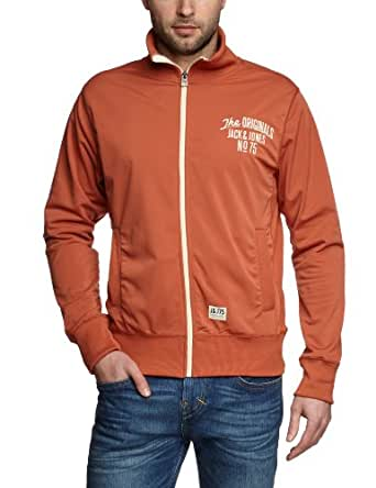 JACK & JONES Herren Jacke 12063425 Brack Sweat Org, Gr. 48 (S), Rot (Aragon)