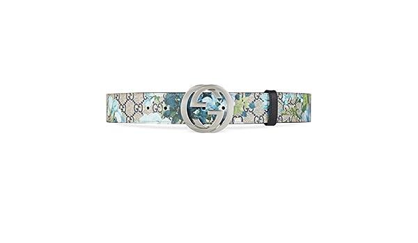 1dd0271a0c5 Gucci Bloom Blue Floral Guccissima Leather Interlocking GG Buckle Belt