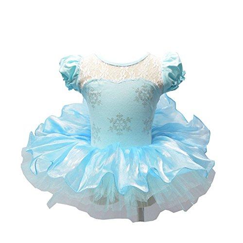 Kleid Up Dressing Elsa (MOONIGHT Mädchen Kinder Prinzessin Kostüm Ballett Kleid Cosplay Tanzkleid Tüllrock Blau (2XL,)