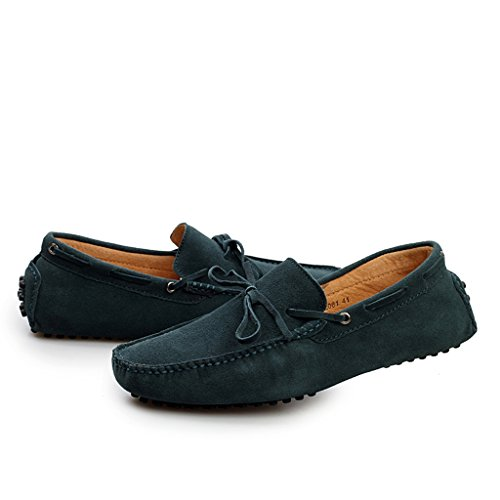 Slipper Shoes Boat Penny Knoten Suede Grün Fahren Men'neuen Minitoo HpZxXX