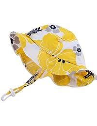 Chapeau contre le soleil pour bébé avec mentonnière, cordon d'ajustement de la taille de la tête, respirant , FPS de 50+
