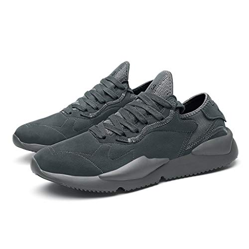 Masrin Sommer Herren Outdoor Schuhe Sneakers Vintage Casual Fashion Mesh Laufschuhe (43, Grau) (Sneakers Karierte)