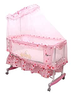 Toyhouse Baby Cradle with Rocking Function Pink