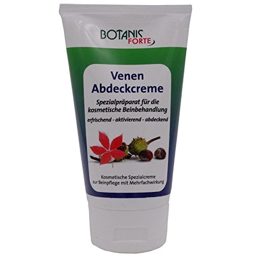 GKA Venen Abdeck-Creme 150ml gegen Besenreiser Krampfadern kosmetische Beinbehandlung Beine Pflegecreme rotes Weinlaub Rosskastanien