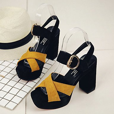 RTRY Donna Sandali Suole Marylight Pu Estate Abbigliamento Casual A Piedi Suole Marylight Fibbia Tacco Piatto Bianco Nero Flat US6.5-7 / EU37 / UK4.5-5 / CN37