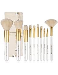 ZOREYA   10 pinceaux brosses de maquillage cosmétique kit professionnel   Poils Synthétiques Qualité Supérieure...