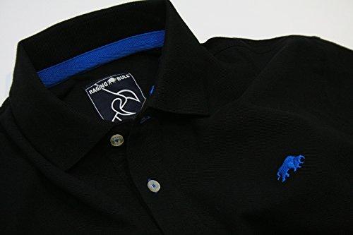 Raging Bull New Signature Poloshirt, Herren M schwarz