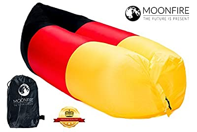 Moon Fire Air Lounger Inflatable Air Sofa with Carry Bag, Air Bed Inflatable Outdoor Sofa Sleeping Sofa Bed Outdoor Camping Stool Chair Seat for Fishing, Swimming Pool Beach Life Coffee Bean Bag Lounge, Garden, Indoor, Air Bed, Air Bed, Air Sofa/Couch-W