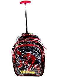 25b77d69de46 Spiderman Sturdy Trolley Travel Bag (9 to 17 Years) School Bag Waterproof  eh1344