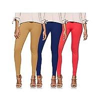 Longies Women's Leggings (Pack of 3) (LGLGSPO3004_Royalbbc_L)