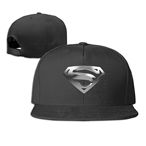 Yhsuk Superman Logo Unisex Fashion Cool Adjustable Snapback Baseball Cap  Hat One Size Black cf2690b0bd6