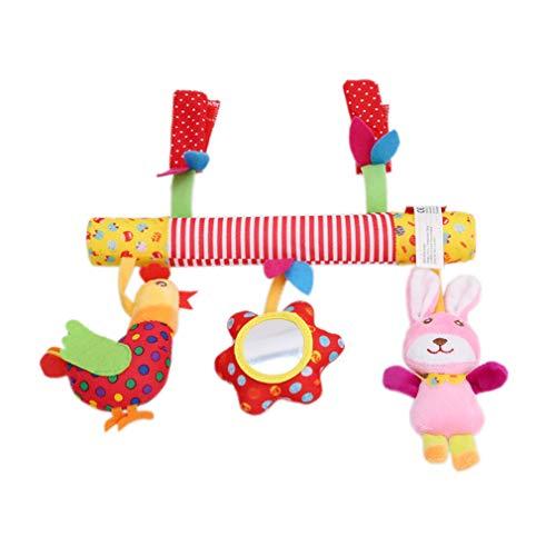 LIGHTBLUE Entzückende Autositz Hängen Spielzeug Plüsch Tier Rassel Kinderwagen Kinderwagen Kinderbett Mobile Spielzeug Geschenk