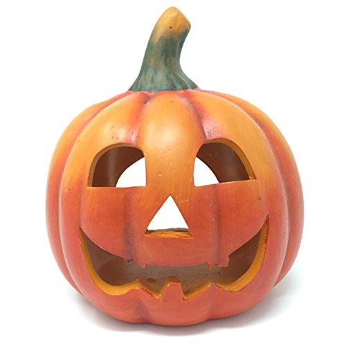 Portacandela gigante a forma di zucca di halloween