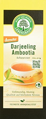 Lebensbaum Darjeeling Schwarztee, demeter, 4er Pack (4 x 40 g)