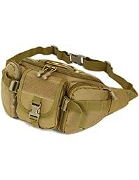 Electomania® Outdoor Unisex Waist Bag Tactical Military Waist Pack Chest Bag Pouch Khaki