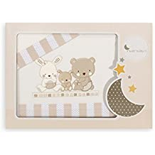 Interbaby Love - Juego de sábanas para minicuna, color beige