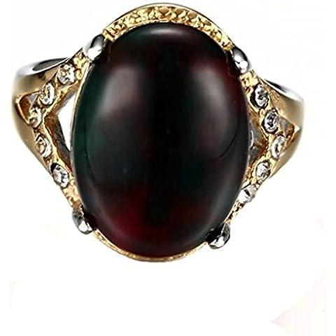Alimab gioielli anelli donna Acciaio inossidabile acciaio ovale Banda nozze
