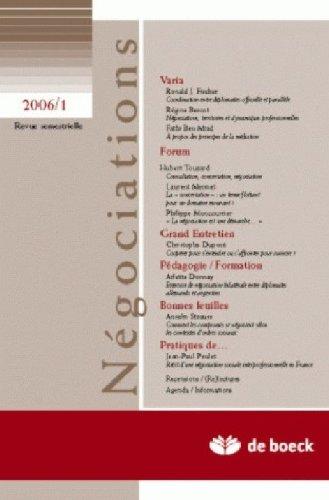 Revue Negociations 20061 - N.5 Varia