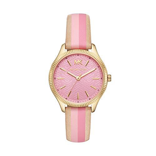 Michael Kors Damen Analog Quarz Uhr mit Leder Armband MK2809