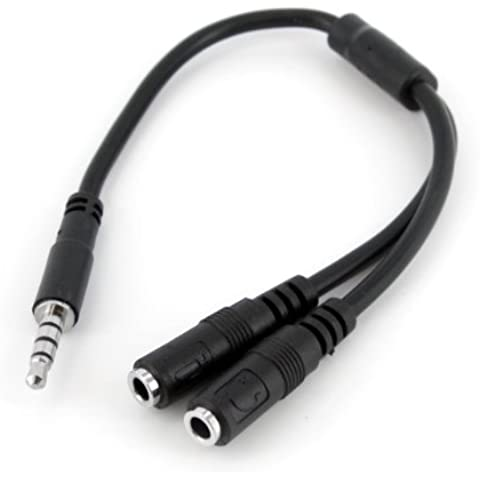 StarTech Adaptador Divisor para Auriculares y Micrófono de 3,5mm de 4 Pines a 2x de 3,5mm de 3 Pines - M/H, 3.5mm, 2 x 3.5mm, Níquel