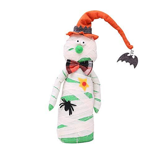 OverDose Damen Happy Halloween Puppe Geist Dekoration Bar Clubbing Party Kürbis Atmosphäre Dekor Prop Spielzeug Horror wesentliche Geschenk