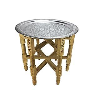 ARTIGIANATO VULCANO Moroccan Style Table with Tray Tavalo Ethnic