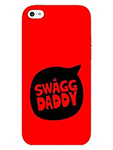 iPhone 5 5S Cover - Swag Daddy - Desi Swag - Designer Printed Hard Shell Case