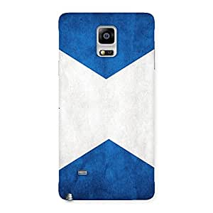 Cute X Fin Blue Back Case Cover for Galaxy Note 4