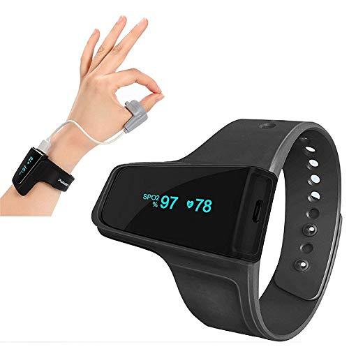 SHWBJ Smartwatch Fitness Tracker Armband Uhr Schrittzähler Uhren Smart Watch Oximeter Handgelenk Pulsoximeter Herzfrequenz Atemschlafmonito