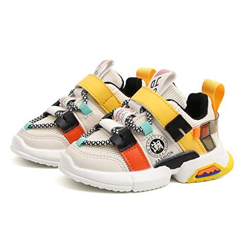 Toodii Toddler Infant Kids Baby Girls Boys Soft Sole Mesh Running Sport Shoes Sneakers White