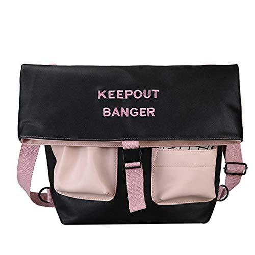 Ledertasche, Schultertasche, Geschenk, Handgefertigte Tasche,2019 Großraumrucksack Multifunktions-Studententasche Fashion Messenger Bag ()
