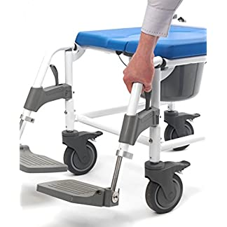 41WD05LQsuL. SS324  - Disco DeVilbiss Healthcare Aston funda para silla/silla de ducha con cuatro ruedas de freno