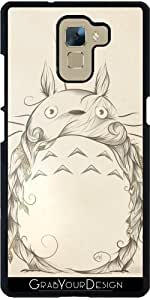 GrabYourDesign 1432469827_7_63 Coque pour Huawei Honor 7 Motif Créature Poétique par Loujah Noir