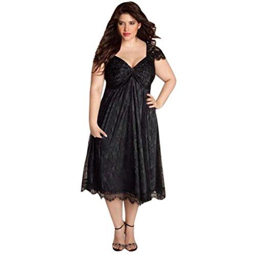 us Size Sleeveless Sexy Langarm Abend Partei Abschlussball Kleid Formale Kleidung Kleid 50er Jahre Schwarz L-5XL (5XL) (Kostüme Für Plus Size Damen)