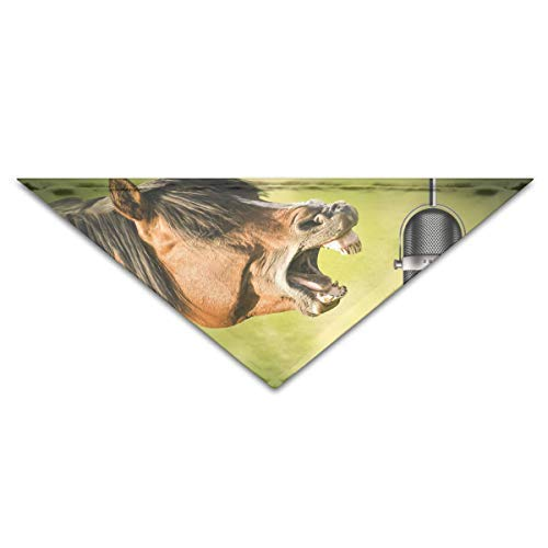 Gxdchfj Dog Bandana Scarf Triangle Bibs Microphone Horse Kerchief,Cats Birthday Bandana Bibs Triangle Head Scarfs Accessories