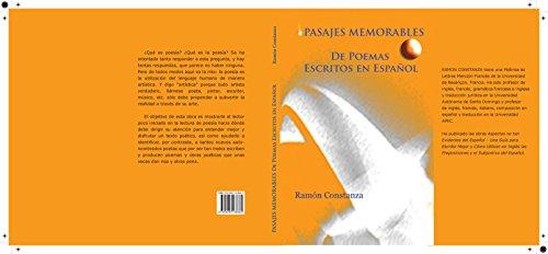 Pasajes memorables  de poemas escritos en espanol por Ramon Constanza