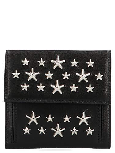 Jimmy Choo Luxury Fashion Donna FRIDACSTBLACK Nero Portafoglio | Stagione Permanente