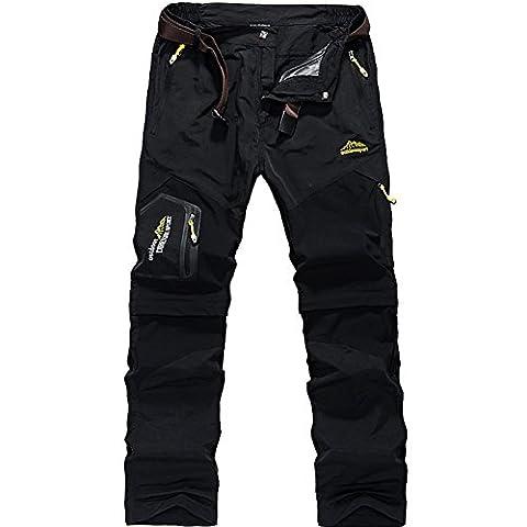 GITVIENAR Pantalon d'alpinisme Hommes Amovible Séchage Rapide avec Multi-poches pour
