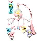 Baby Music Bed Hanging Bell, Sonajero Giratorio Colgante De 360   Grados y Caja De Música De Control Remoto Con Luz Nocturna Baby Rattle Baby Bed Bell Toy.