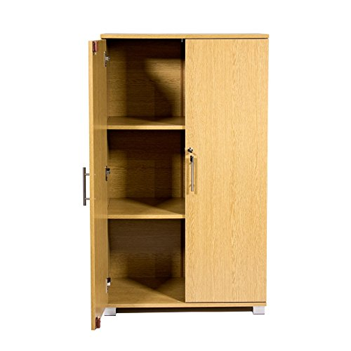 Best Price Office storage cupboard filing cabinet – lockable, office furniture, 3 storage shelves – 2 door cabinet – 700mm wide – massive storage capacity –