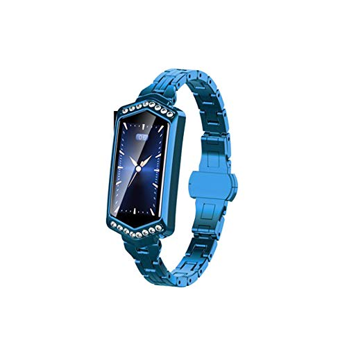 FENGSHUAI Fitness Tracker, Smart Armband Herzfrequenz-Blutdruckmessgerät Bluetooth GPS Pacer Sports Calorie Smart Watch,Blau