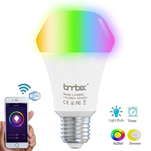 9W Wifi Smart Lampe Farbe Dimmbare LED Licht, Funktioniert mit Alexa und Google nach Hause, Timing-Funktion, Fernbedienung durch Geräte, LED-Farbton, keine Hub erforderlich
