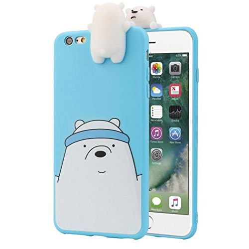 Aleis grande vendita 3D Cartoon animali cute We Bare Bears morbida cover in silicone per iPhone Candy colore lovely Girly Bear Design